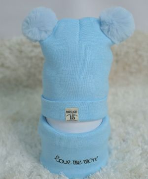 Tipy Tipy Tap Ear Applique Cap & Neck Warmer Set - Blue