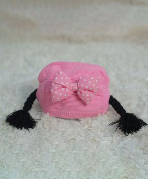 Tipy Tipy Tap Bow Braid Cap - Pink