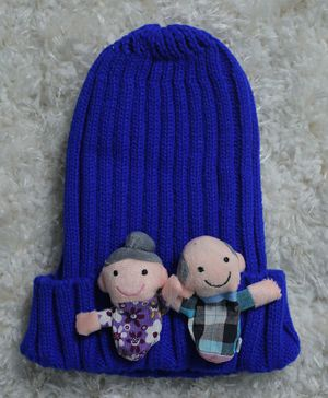 Tipy Tipy Tap Mom Dad Woollen Cap - Blue