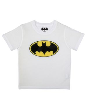 Batman By Crossroads Batman Logo Print Half Sleeves T-shirt - White