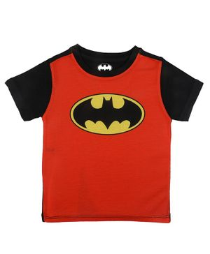 Batman By Crossroads Batman Logo Print Half Sleeves T-Shirt - Red