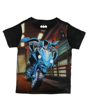Batman By Crossroads Batman on Bat Blade Print Half Sleeves T-shirt - Multi Colour
