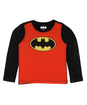 Batman By Crossroads Batman Logo Print Full Sleeves T-Shirt - Red