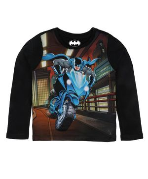 Batman By Crossroads Batman On Bat Blade Print Full Sleeves T-Shirt - Multi Colour