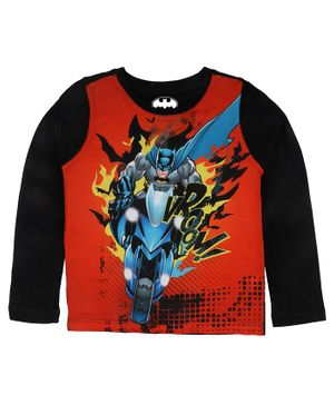 Batman By Crossroads Batman Graphic Print Full Sleeves T-shirt - Red
