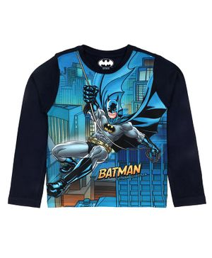 Batman By Crossroads Batman Gotham Guardian Print Full Sleeves T-Shirt - Blue