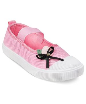 Kittens Shoes Bow Detailed Bellies - Light Pink