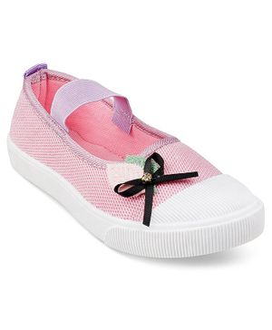 Kittens Shoes Bow Detailed Bellies - Purple