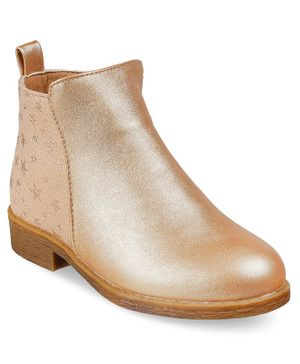 Kittens Shoes Ankle Length Boots - Gold