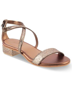 Kittens Shoes Shimmery Buckle Straps Sandals - Dark Gold