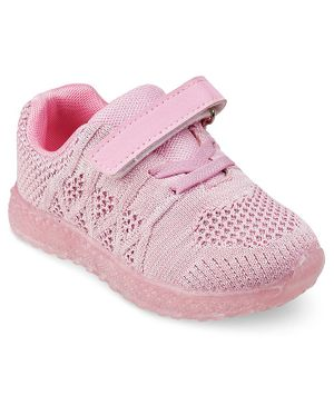 Kittens Shoes Solid Velcro Straps Shoes   - Pink