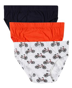 Claesens Holland Pack Of 3 Cycle Print Briefs - Red & Black
