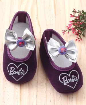 Barbie Booties With Bow - Purple