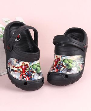 Marvel Avengers Clogs With Back Strap - Black