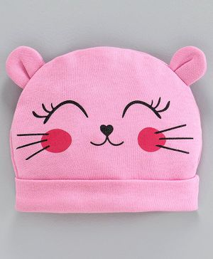Babyoye Cotton 3D Cap with Ears - Pink