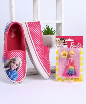 Barbie Casual Shoes With Free Doll (Assorted Doll Design) - Pink