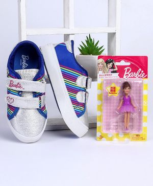 Barbie Casual Shoes With Free Doll (Assorted Doll Design) - Dark Blue