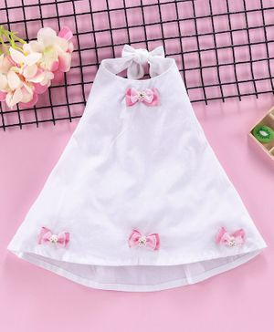 ToffyHouse Sleeves Less One Piece Dresses / Frocks White 6M-9M Female