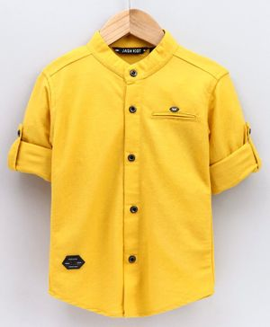 Jash Kids Full Sleeves Shirt Solid Colour - Yellow