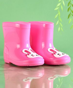 Cute Walk by Babyhug Rain Boots Bunny Patch - Pink