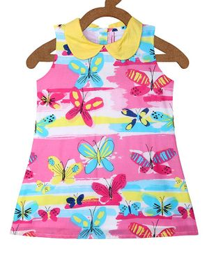 Campana Butterfly Printed Sleeveless Dress -  Multicolour
