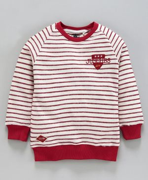 Jus Cubs Striped Full Sleeves Sweatshirt - Multi Color