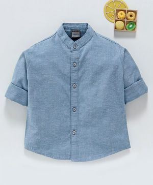 Rikidoos Full Sleeves Shirt - Light Blue (5 to 6 Year)