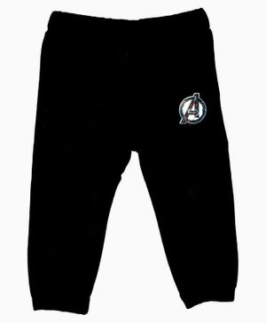Marvel By Crossroads Avengers Logo Print Full Length Elasticated Pants - Black