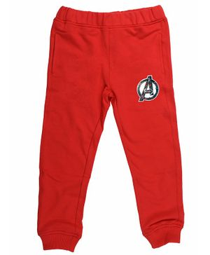 Marvel By Crossroads Avengers Logo Print Full Length Elasticated Pants - Red