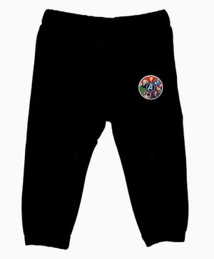 Marvel By Crossroads Avengers All Characters Print Full Length Elasticated Pants - Black
