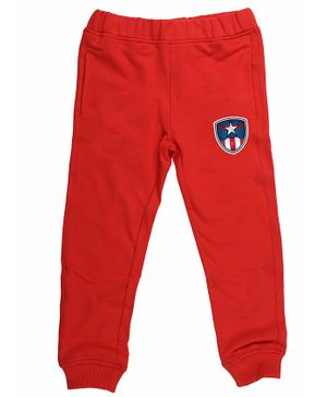 Marvel By Crossroads Avengers Patch Full Length Pants - Red