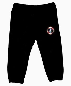 Marvel By Crossroads Avengers Star Logo Print Full Length Elasticated Pants - Black