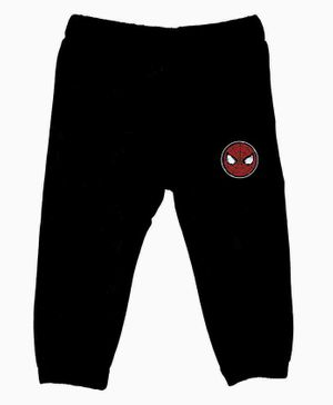 Marvel By Crossroads Spider Man Print Full Length Elasticated Pants - Black