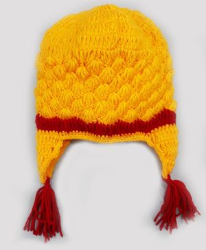 Knitting By Love Hand Knitted Cap - Yellow