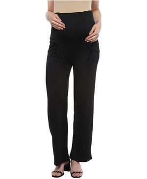 Momsoon Maternity Full Length Elasticated Yoga Pants - Black