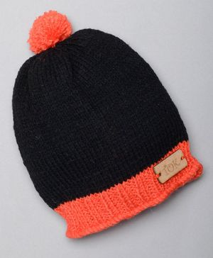 The Original Knit Pom Pom Detailed Cap - Black