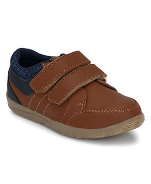 Tuskey Double Velcro Closure Shoe - Brown