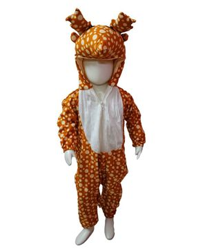 BookMyCostume Deer Themed Full Sleeves Costume - White & Brown