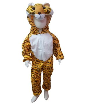 BookMyCostume Tiger Themed Full Sleeves Costume - Golden & White