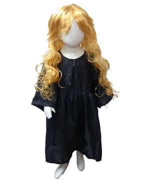 BookMyCostume Hermione Granger Full Sleeves Harry Potter Film Character Dress Costume - Black & Golden