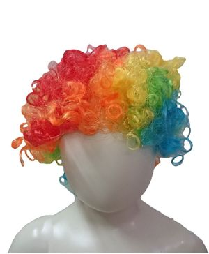 BookMyCostume Colorful Joker Clown Hair Wig Unisex Fancy Dress Costume Accessory - Multicolor