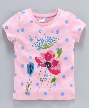 Smarty Short Sleeves Tee Floral Print - Pink