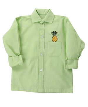 KIDS CLAN Pineapple Patch Full Sleeves Shirt - Green