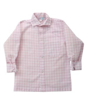 KIDS CLAN Checked Full Sleeves Shirt - Pink