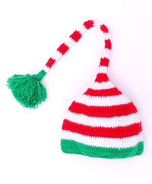MayRa Knits Striped Cap - Red