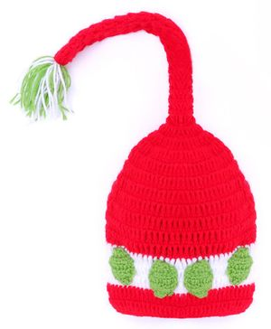 MayRa Knits Long End Cap - Red