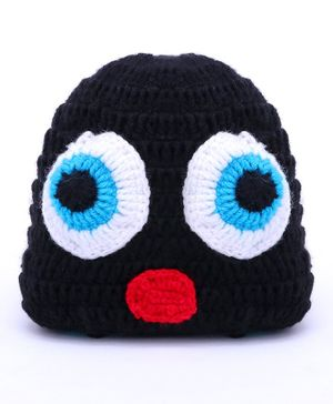 MayRa Knits Penguin Design Cap - Black