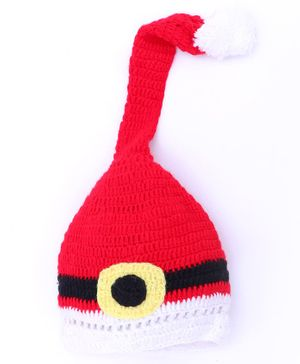 MayRa Knits Santa Cap - Red