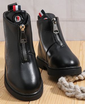 KIDLINGSS Zip Up Ankle Boots - Black