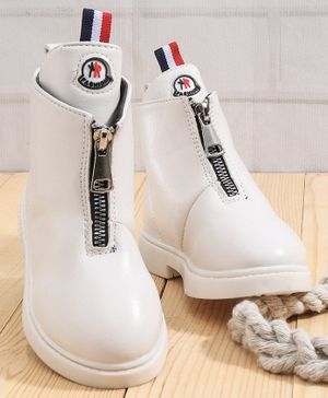 KIDLINGSS Zip Up Ankle Boots - White